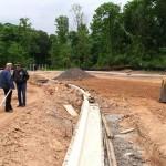 Elizabeth Seton HS - build new parking lots 1